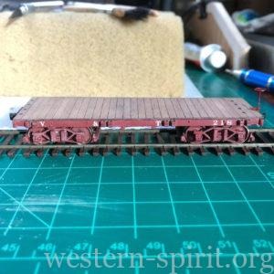 HO Scale V&T flat car by Andrew Brandon.